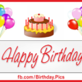 Banner With Balloons Happy Birthday Card