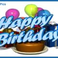 Blue 3D Happy Birthday Card