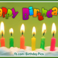 Cake Candles Beautiful Happy Birthday Card