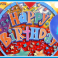 Cake Pics On Balloons Happy Birthday Card