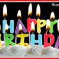 Candel Letters Happy Birthday Card