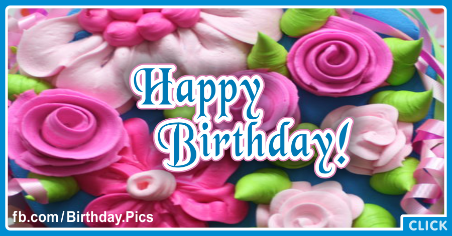 Candy Roses Pink Happy Birthday Card Happy Birthday Videos And