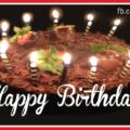 Chocolate Cake Candles Happy Birthday Card