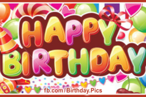 Colorful 3D Text Happy Birthday Card