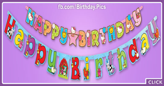 Colorful Banners Happy Birthday Card for celebrating