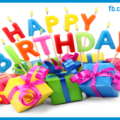 Colorful Gift Boxes Happy Birthday Card