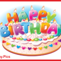Colorful Letter Candles Happy Birthday Card
