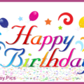 Colorful Letters Balloons Birthday Card