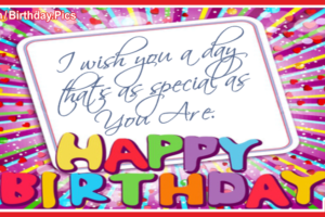 Colorful Letters Happy Birthday Card