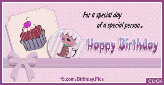 Cute Cat Special Happy Birthday Card for celebrating