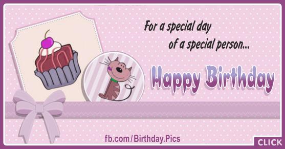 Cute Cat Special Happy Birthday Card