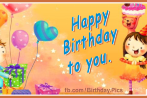 Cute Children Party Happy Birthday Card