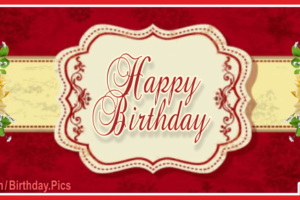 Elegant Design Red Happy Birthday Card