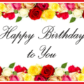 Flowers Frame Happy Birthday Card