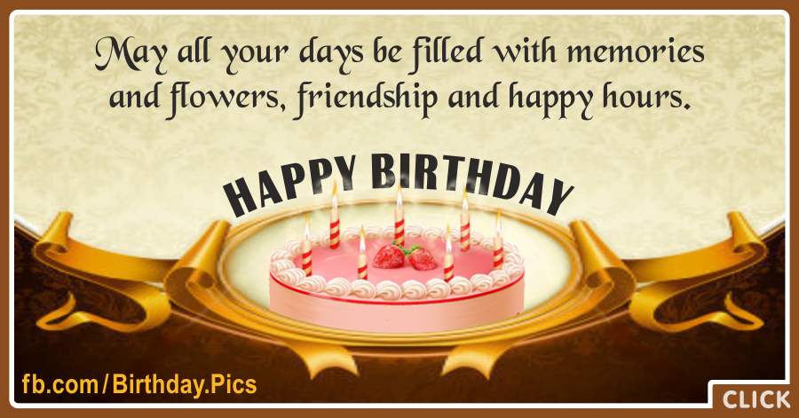 Friendship Happy Hours Birthday Card