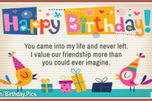 Friendship Naive Draw Happy Birthday Card