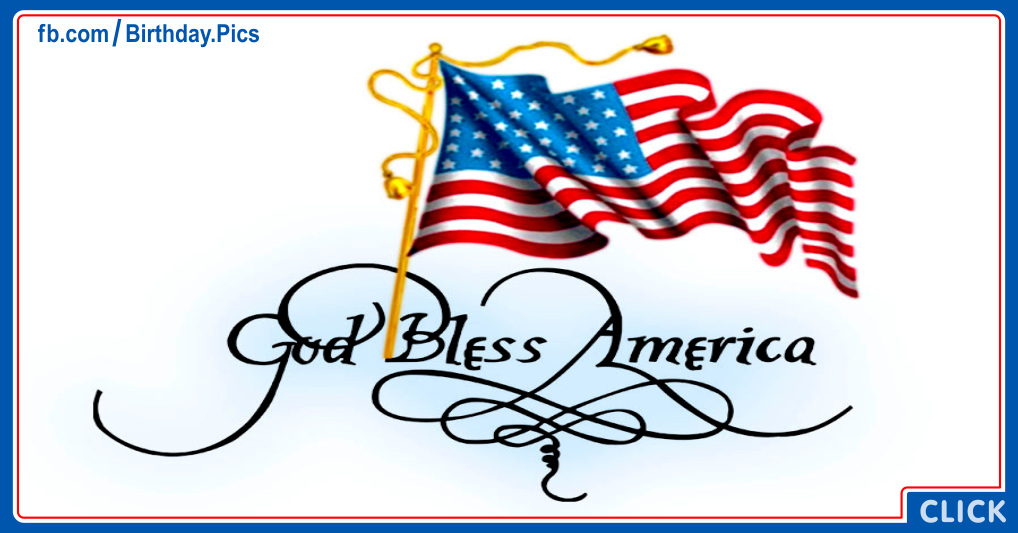 God bless America card 13