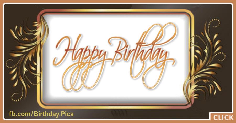 Gold Ornaments Happy Birthday Card