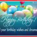 Green Balloons Happy Birthday Card