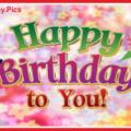 Green Purple 3D Happy Birthday Card