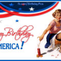 Happy 4th July Birthday America card 17