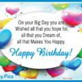 Heart Shaped Balloons Circle Happy Birthday Card