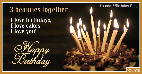 I Love You Beauty Happy Birthday Card