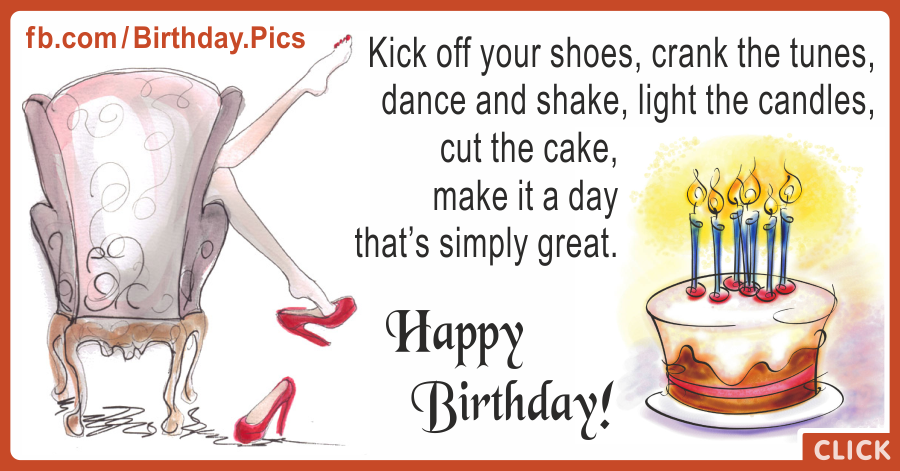 Kick Of Shoes Happy Birthday Card for celebrating