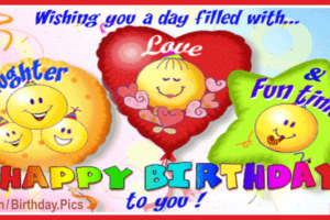 Laughter Love Fun Happy Birthday Card