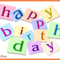 Letters And Balloons On White Birthday Card