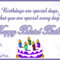 Lilac Color Cake Happy Birthday Card