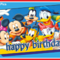 Mickey Friends Happy Birthday Card