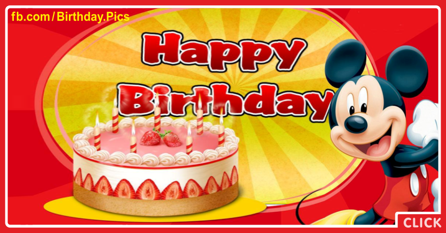 Pink Cake And Mickey Mouse Birthday for celebrating