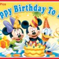 Mickey Winnie Donald Happy Birthday Card