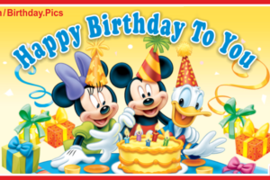Mickey Minnie Donald Happy Birthday Card