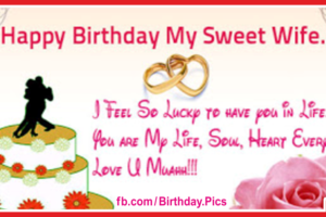 My Sweet Wife Happy Birthday Card