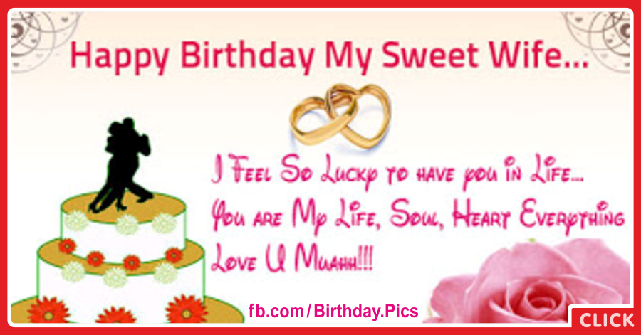 my sweet wife happy birthday card  happy birthday pictures, Birthday card