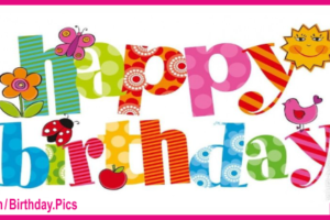 Naive Colorful Text Happy Birthday Card For You
