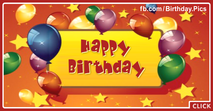 Old Style Balloons Happy Birthday Card