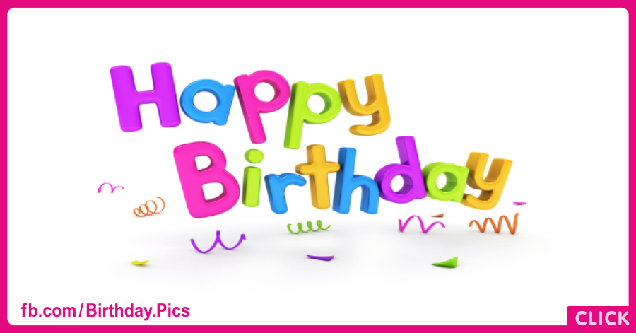 Pastel 3D Letters Happy Birthday Card