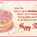Pink Cake On Yellow Happy Birthday Card