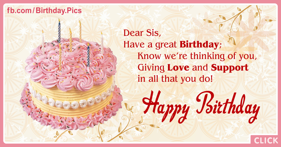 Pink Cake On Yellow Happy Birthday Card