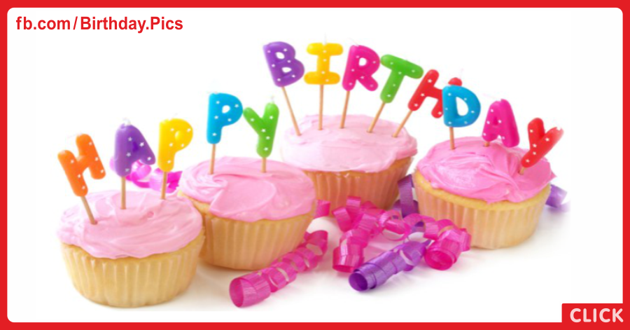 Pink Cupcakes Happy Birthday Card