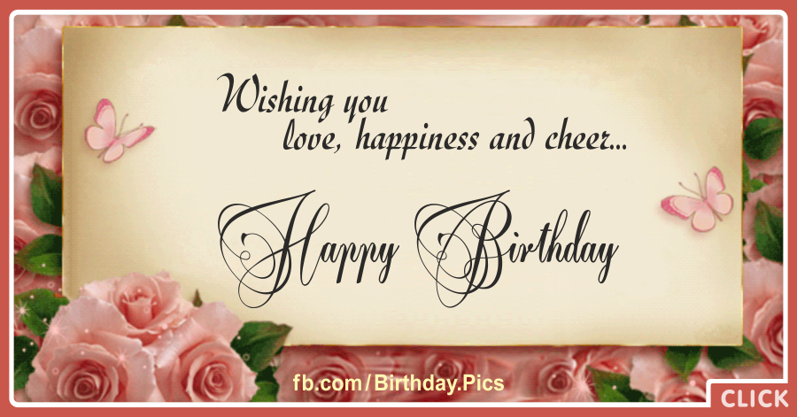 Pink rose archives happy birthday videos and pictures free pink rose vintage happy birthday card bookmarktalkfo Image collections