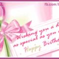 Pink Tulip Happy Birthday Card