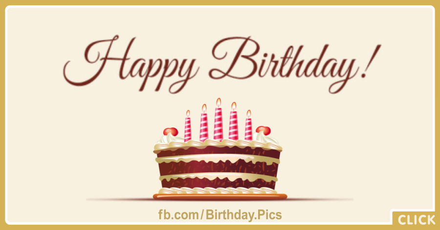 Pink White Candles On Chocolate Cake Card
