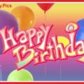 Pinky 3D Text Happy Birthday Card