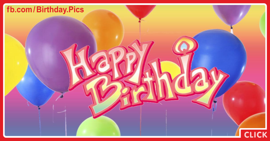 Pinky 3D Text Happy Birthday Card