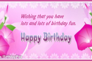 Pinky Vine Flowers Happy Birthday Card