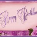Pinky Vintage Happy Birthday Card